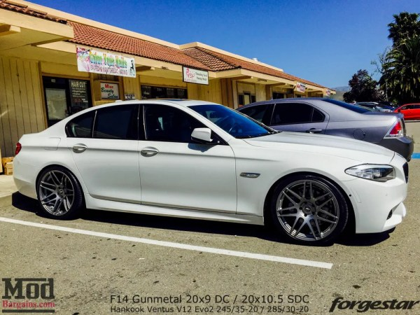 Quick Snap: F10 BMW 550i on Forgestar F14 20in Super Deep Concave Wheels