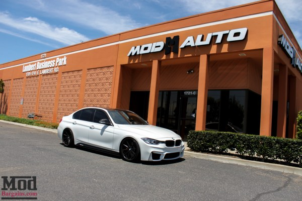 F80 M3 Bumper for F30 BMW 3-Series Installed on a 400HP 335i @ ModAuto