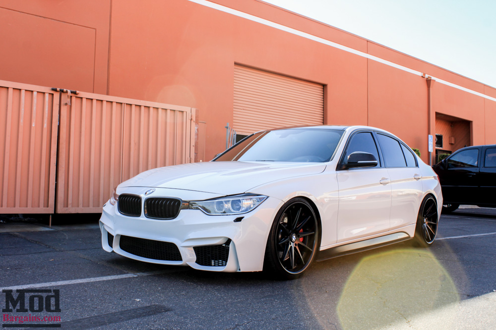 f80 m3 bumper for f30 bmw 3 series installed on a 400hp 335i modauto blog. Black Bedroom Furniture Sets. Home Design Ideas