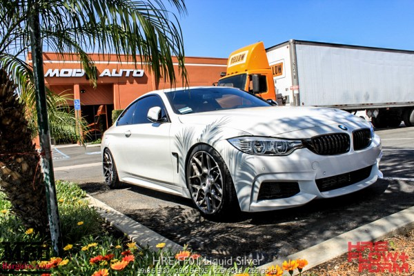 Quick Snap: F32 BMW 435i Gets Aligned at ModAuto