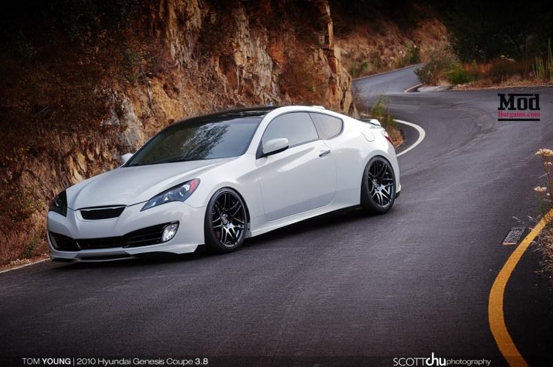 Hyundai Genesis Coupe w/ Forgestar F14 Wheels - Front 19x9 Rear 19x10