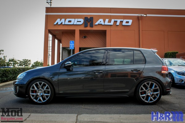 Low N Wide: VW Golf GTI MK 6 Gets H&R Cup Kit & Spacers at ModAuto