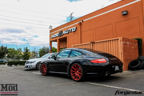 Quick Snap: Porsche 997 Carrera S Stuns on Red Forgestar CF10 Wheels