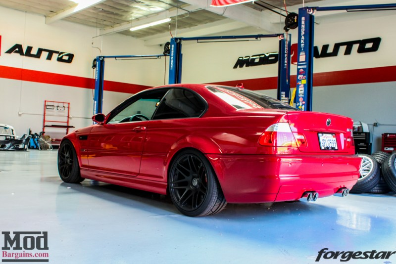 BMW_E46_M3_Imola_Red_Mishimoto_Radiator_ForgestarF14_KW_V3_HRsways-30