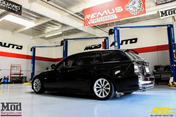 Quick Snap: BMW E91 328i Touring on ST Coilovers Installed @ ModAuto