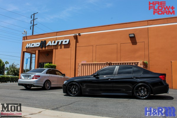 Quick Snap: BMW F30 335i on HRE FF01 Wheels Gets H&R Springs Installed @ ModAuto