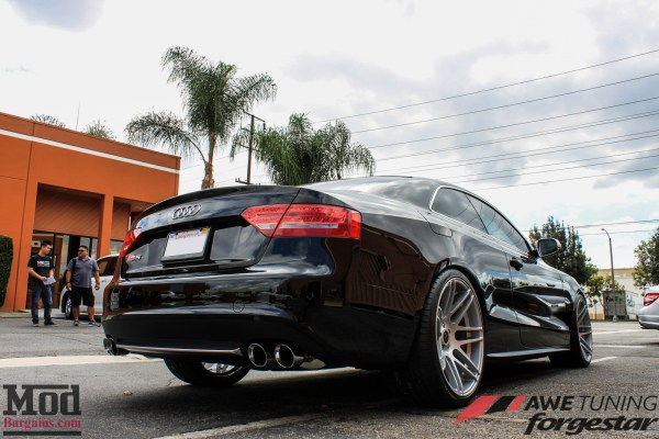 Quick Snap: Kyle K's B8 Audi S5 Exhaust by AWE Tuning & Forgestar Wheels Installed @ ModAuto