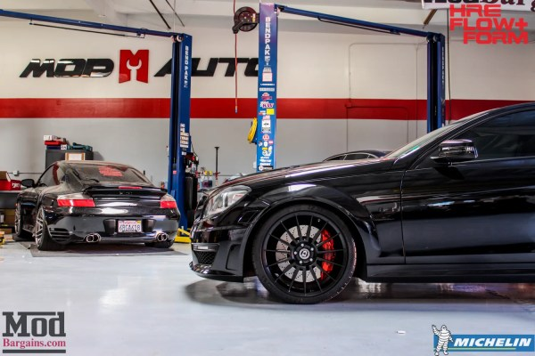 Quick Snap: W204 Mercedes C63 AMG Coupe on HRE FF15 Tarmac Wheels @ ModAuto