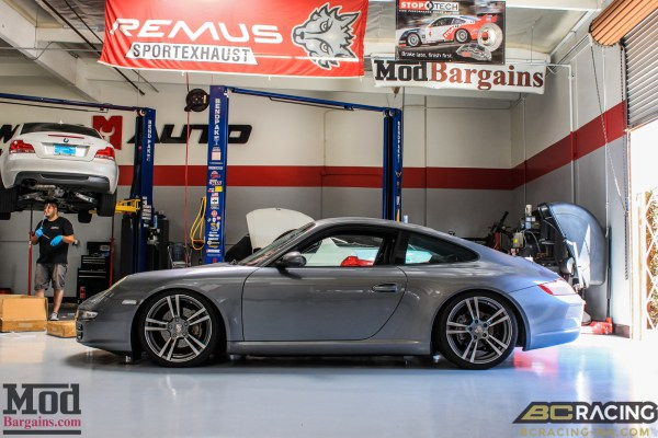Quick Snap: Porsche 997 Carrera on BC Coilovers with Turbo II Style Wheels @ ModAuto