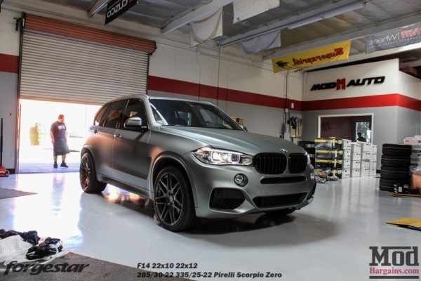 Frozen Gray F15 BMW X5 on 22in Forgestar F14 Wheels @ ModAuto