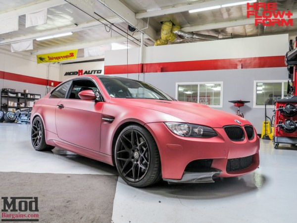 Temoor's Matte Red E92 BMW M3 on HRE FF01s Gets an Interior Update