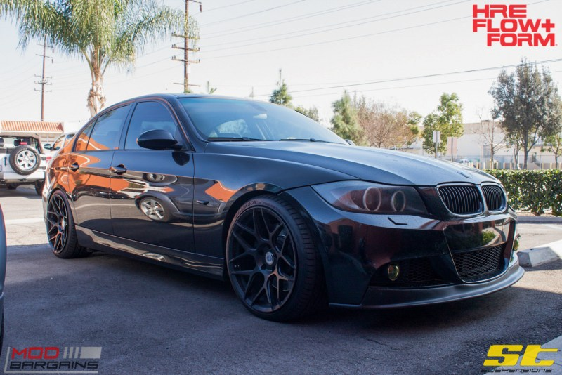 BMW_E90_335i_HRE_FF01_Tarmac_19in_ST_Coilovers-3