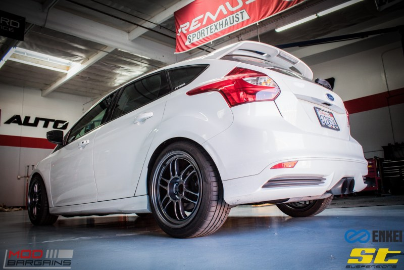 Ford Focus ST 14 CX FMIC ST X Coilovers Enkei RPF-1 Steeda Rear Sway Milltek nonres (23)