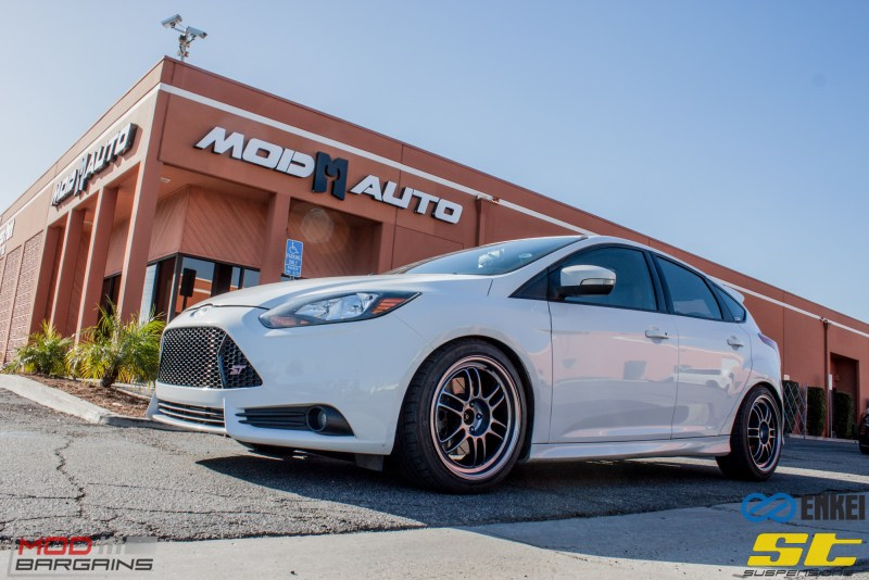 Ford Focus ST 14 CX FMIC ST X Coilovers Enkei RPF-1 Steeda Rear Sway Milltek nonres (33)