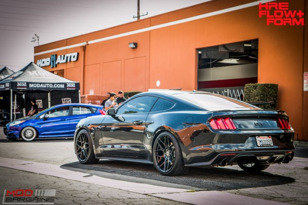Quick Snap: Black S550 Mustang GT on HRE FF01 Mesh Wheels KILLS it