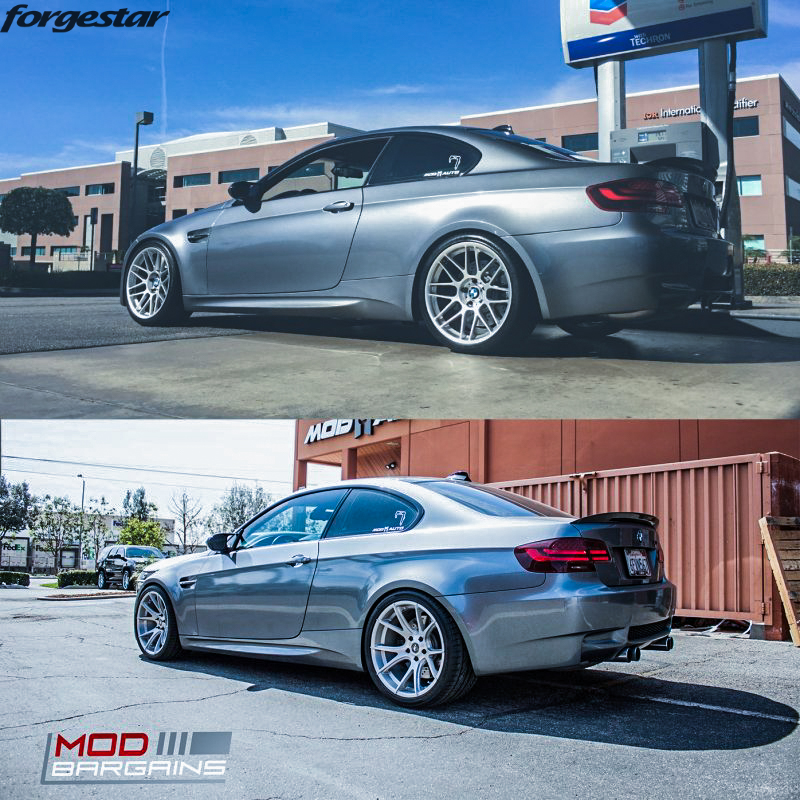 Forgestar CF5V Brushed 19x10et20 19x11et25 on BMW E92 M3 before-after