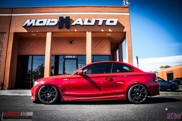 RED135i: Canyon Carver E82 BMW 135i on KW V3 Coilovers + Beyern Wheels