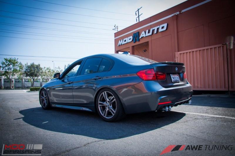 BMW_F30_328i_M4_Bumper_AWE_Quad_Exhuast_Msport_rear_Lowered (19)