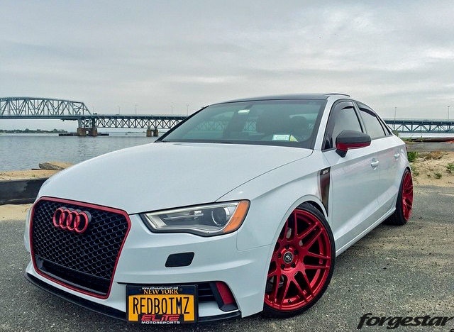 Quick Snap Custom 8v Audi A3 On Blood Red Forgestar F14s