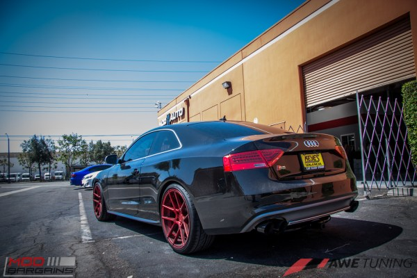 Quick Snap: Red Avant Garde M510 Wheels on Audi S5 [B8] & RS Grille Installed @ ModAuto
