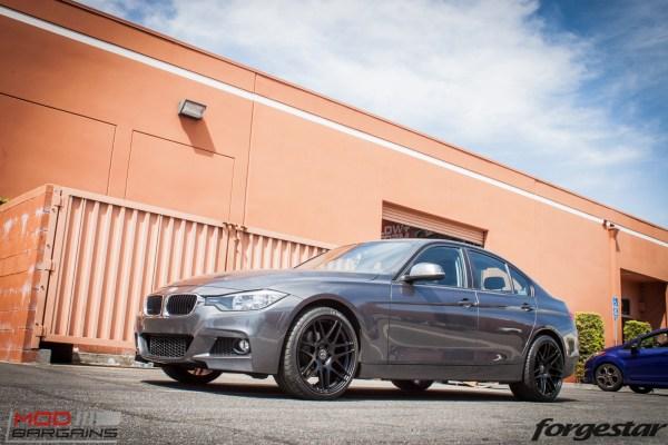 Quick Snap: M-Sport Style F30 BMW 328i on Forgestar F14 Matte Black Wheels
