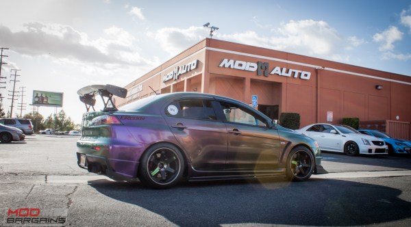 Spotted: Wicked Wrapped Evo X on Volk TE37s at ModAuto
