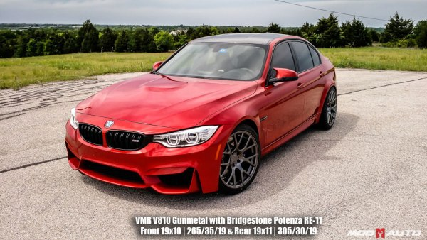 Quick Snap: Red F80 BMW M3 on VMR V810 Wheels
