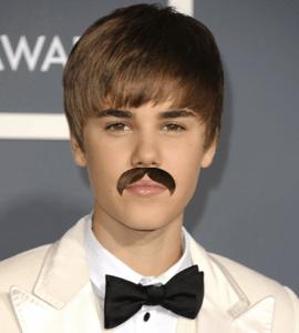 Bieber w/ a Moustache