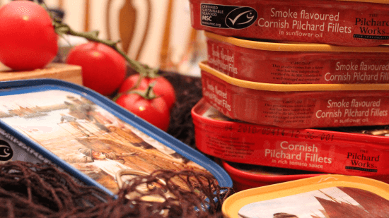 Sustainable sardines manufactured in Cornwall