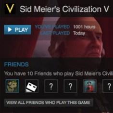 1001 Hours of Sid Meier's Civilization V