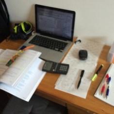 A typical CFA Candidates desktop