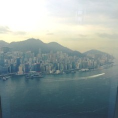 The view from the 107th floor of the Ritz-Carlton Hong Kong