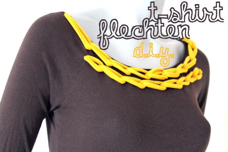 Flechten auf und mit T-Shirts // DIY Upcycling