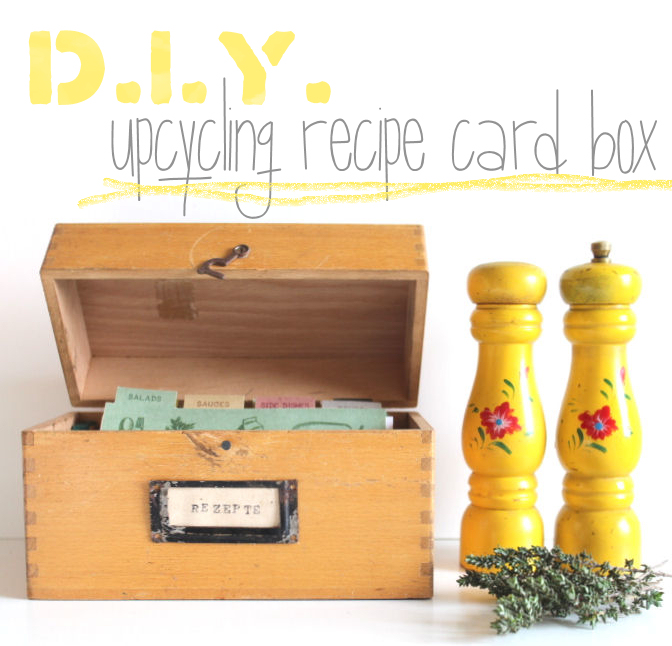 D.I.Y. // Upcycling Rezeptbox // Upcycling Recipe Box