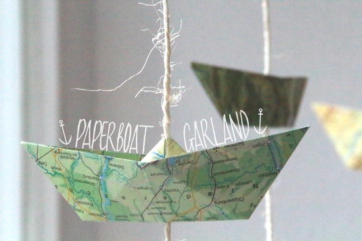 Papierboot Girlande