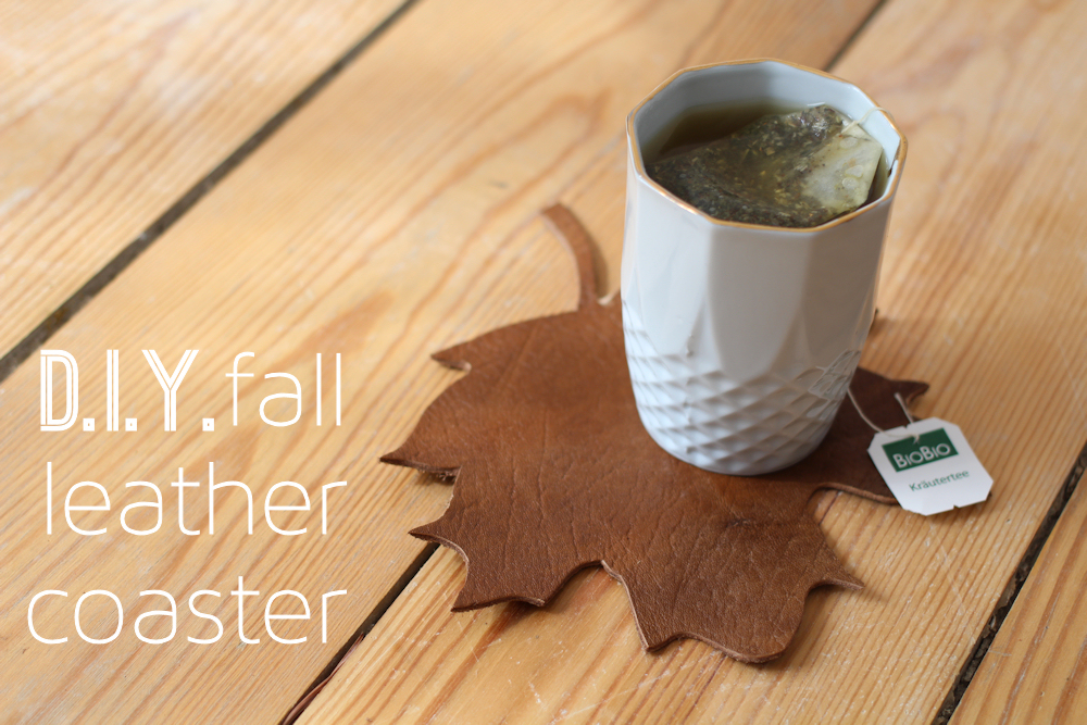 DIY fall leather coasters