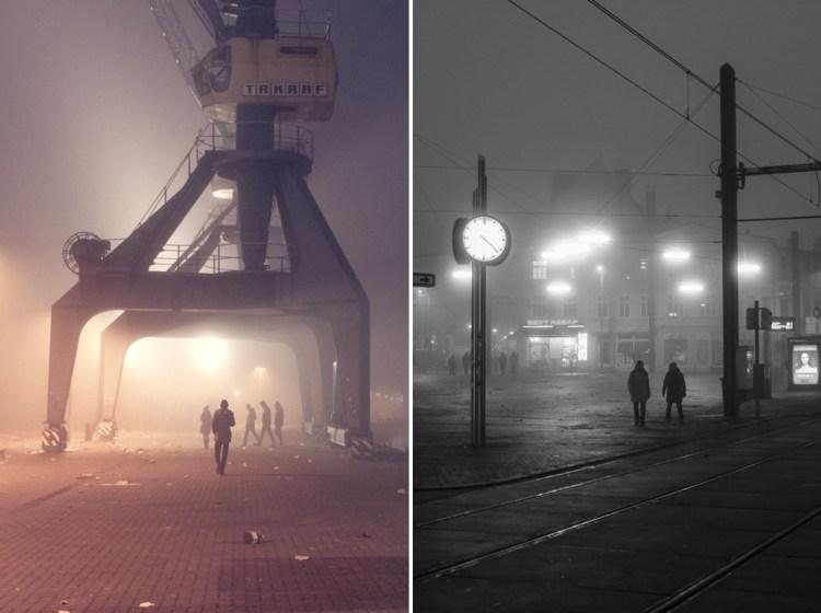 Rostock Neujahrsnebel