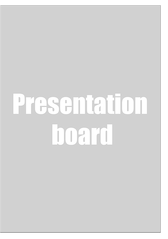 Presentation board size for architectural photography