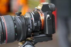 A7r with Canon tilt shift