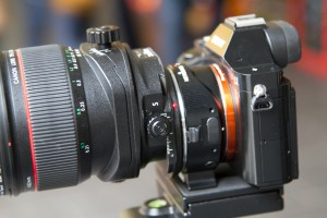 Sony A7r tilt shift lens for architecture