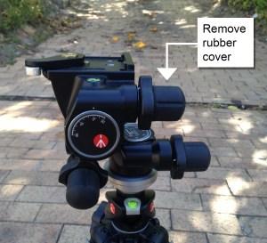 Manfrotto 410 geared head remove knob cover