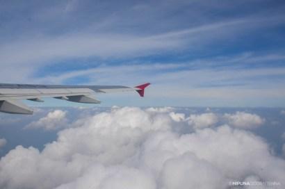 UL 195 in the sky