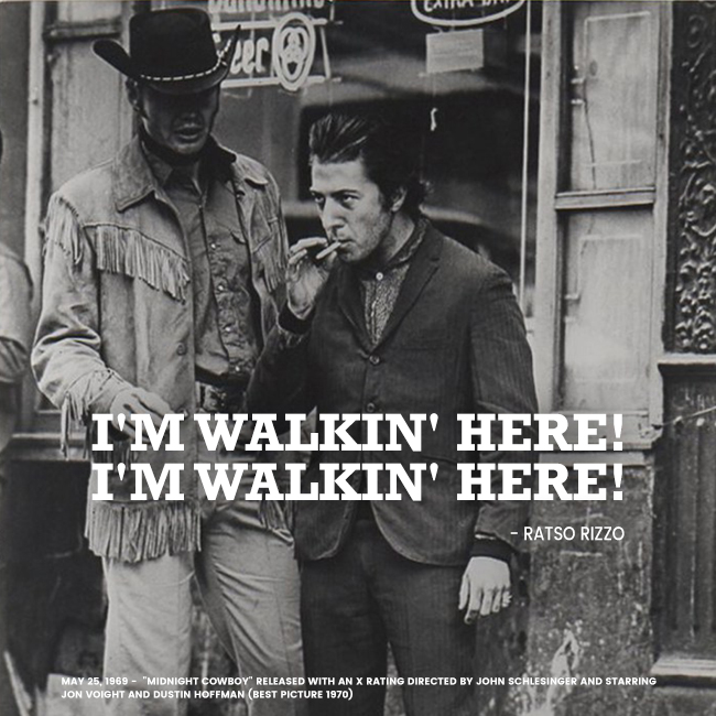 Dustin Hoffman and John Voight in Midnight Cowboy by Adam Holender
