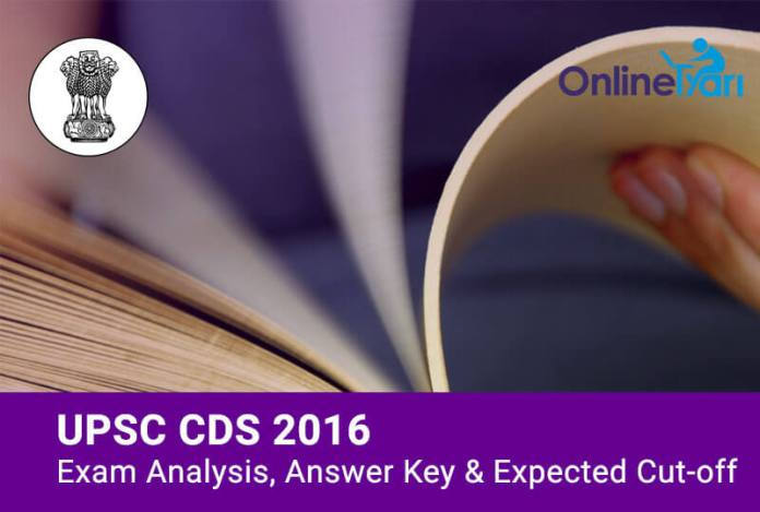 UPSC-CDS-Exam-Analysis-Answer-Key-Expected-Cutoff-Marks