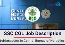 Sub Inspector in Central Bureau of Narcotics Job Profile