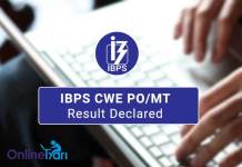 IBPS CWE PO MT Result Out
