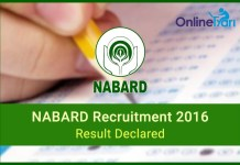NABARD Prelims Result 2016 for Grade A, B Officers