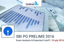 SBI PO Exam Analysis for Prelims Examination 10 July 2016