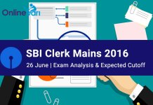 SBI Clerk Exam Analysis Mains 2016
