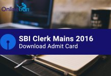 SBI Clerk Mains Admit Card